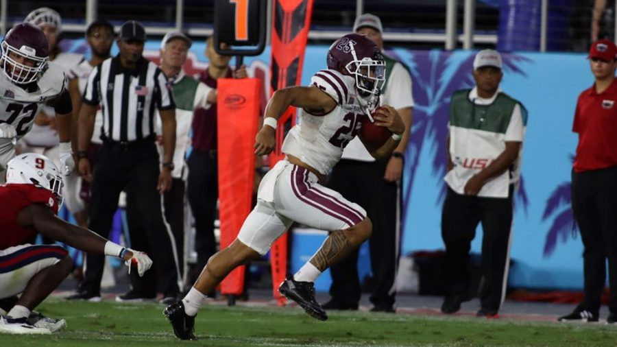 Fordham is hoping that its offense, particularly the rushing attack, will pick up pace in Patriot League play. (Courtesy of Fordham Athletics)