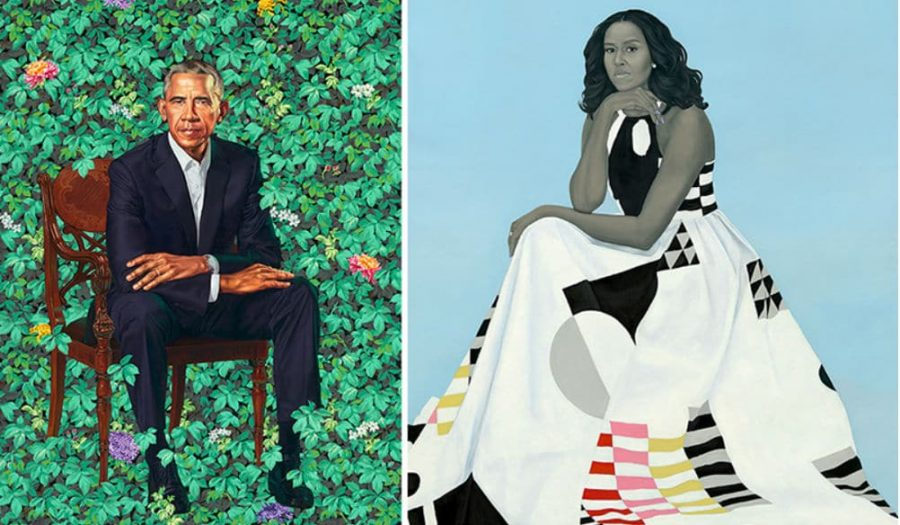 The historic Obama portraits arrived in New York City for a two month residency at the Brooklyn Museum. (Courtesy of Twitter).