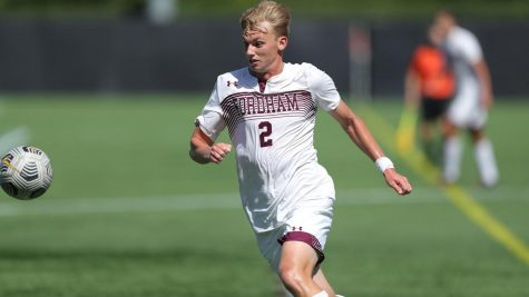 Sluys (above), scored the winning goal in Fordham's 2-1 victory against La Salle. (Courtesy of Fordham Athletics)