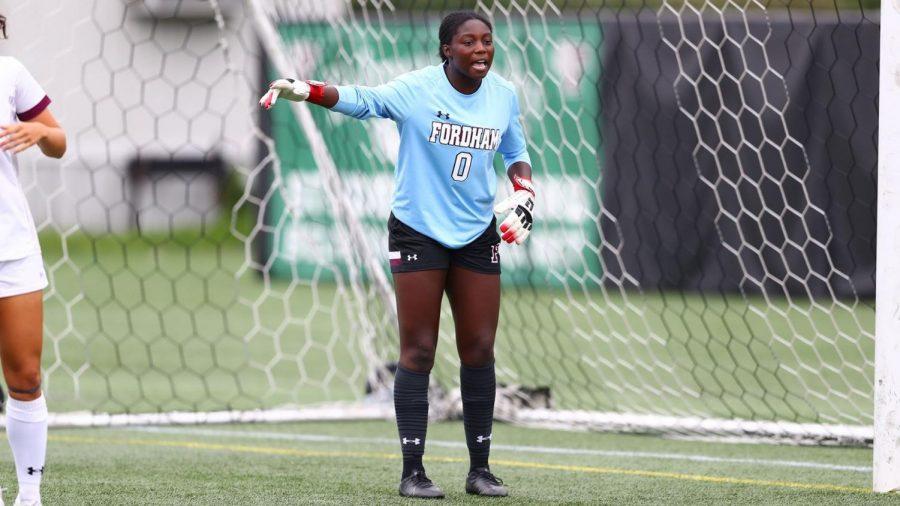 Goalkeeper Serena Mensah had a career-high amount of saves against La Salle. (Courtesy of Fordham Athletics)