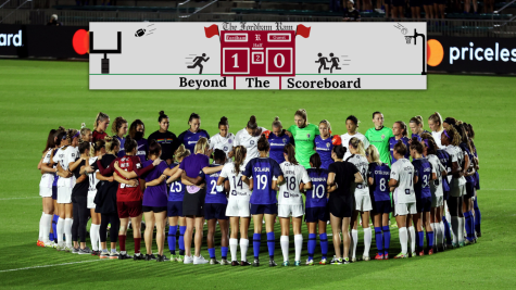 Teams across the NWSL stopped play and locked arms at the sixth minute of their Oct. 6 matches. (Courtesy of Twitter)