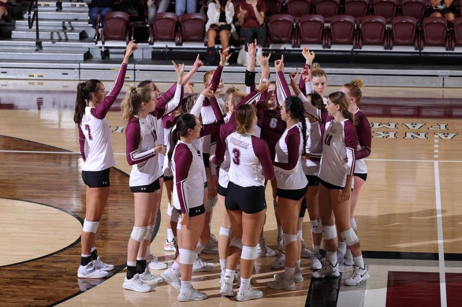 Volleyball faces Saint Louis University in tough away loss in Saint Louis, MI. (Courtesy of Fordham Athletics)