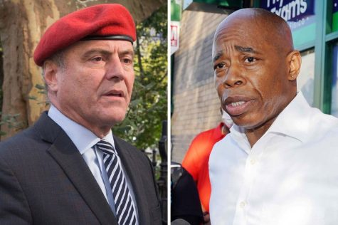 Republican Curtis Sliwa and Democrat Eric Adams faced off in their first mayoral debate last week. (Courtesy of Twitter)