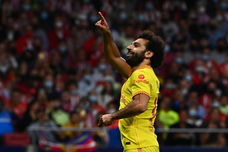 Salah scored a brace against Atletico Madrid to continue Liverpools perfect streak in the group stage. (Courtesy of Twitter)