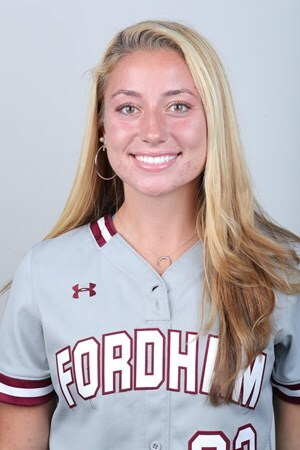 Speer (above) teamed up with Hubertus to pass on some of the lessons she has learned to elementary school students. (Courtesy of Fordham Athletics)