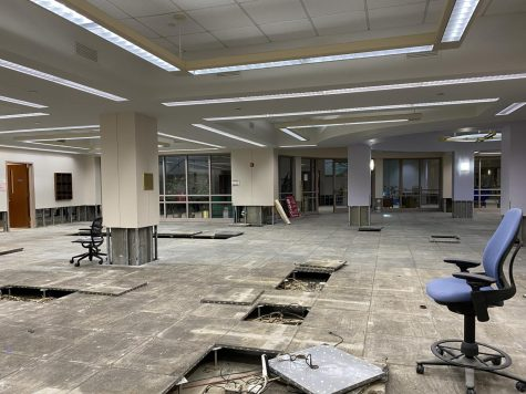 Walsh Library sustained major damage due to heavy flooding earlier this semester. (Courtesy of Emma Kim)