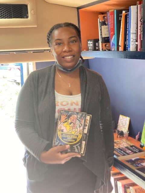 Latanya DeVaughn opened a mobile bookstore to cater to underserved Bronx residents. (Courtesy of Bronx Bound Books)