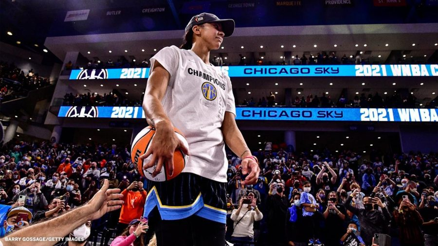 Parker won the second trophy of her WNBA career, this one even more special coming in her hometown. (Courtesy of Twitter)