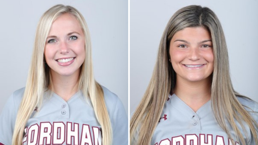 Bright (left) has a newfound gratitude for her teammate Sarah (right) after the scary situation on the field. (Courtesy of Fordham Athletics)