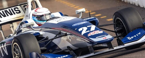 Robert Megennis, PCS, was in a driver development program, which led him to the IndyCar Series. (courtesy of Robert Megennis)