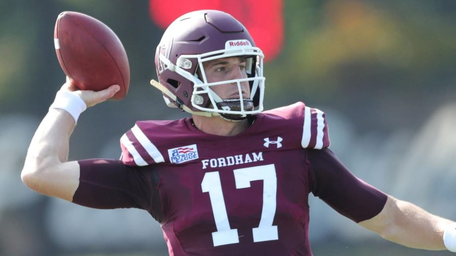 Tim DeMorat had a spectacular game against the Bucknell Bison at Jack Coffey Field. (Courtesy of Fordham Athletics)