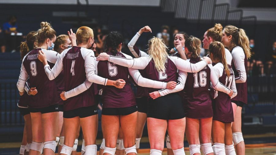 Volleyball will try and take the lessons from its past week into a manageable stretch of upcoming A-10 games. (Courtesy of Fordham Athletics)