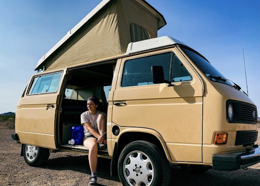 Halle Homel posted this picture of her decked out camper van on her Instagram @HallesWanderingSoul. (Courtesy of Instagram)